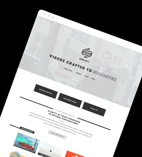 Freelance Web Design - Sublight Studio