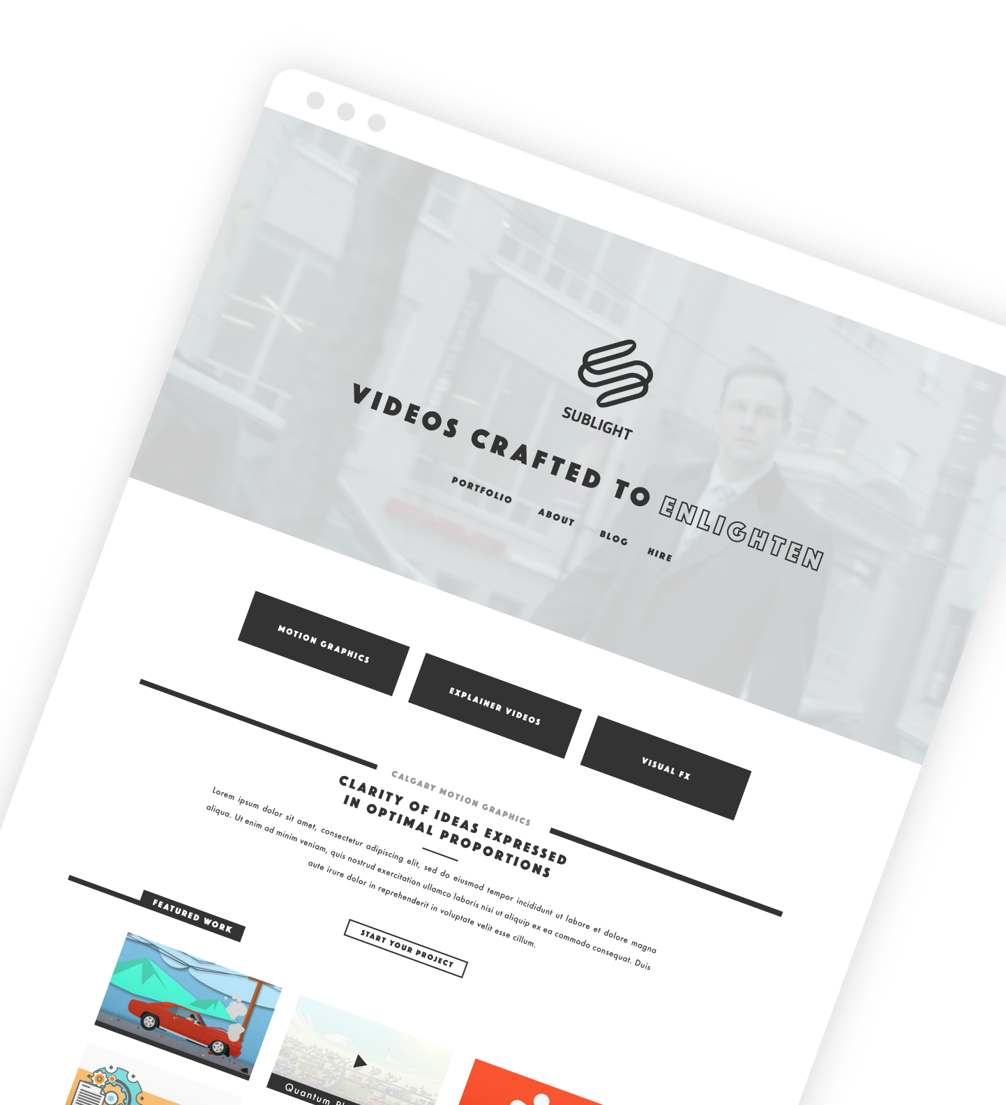 Freelance Web Design - Sublight Studio