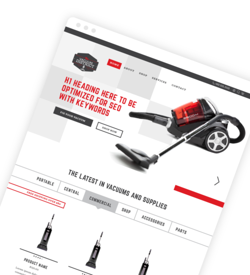 Freelance Web Design - Vacuum District