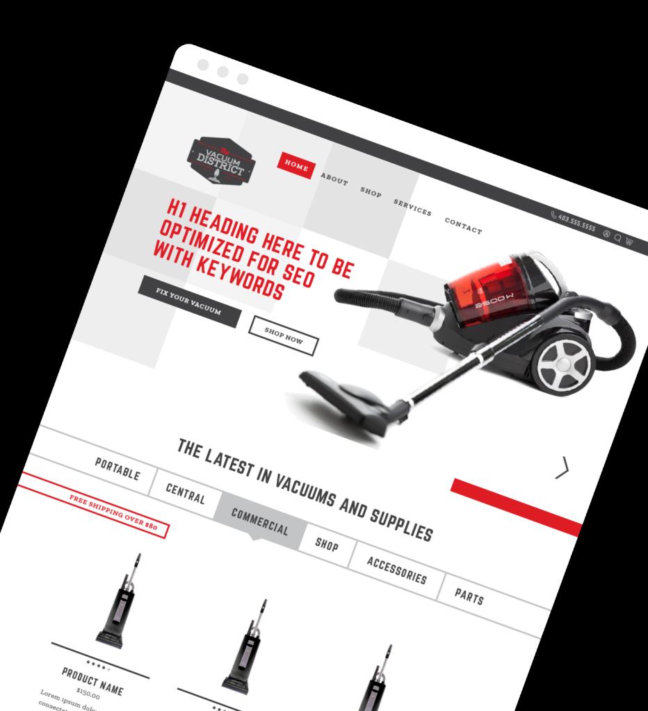 Freelance Web Design - Vacuum District