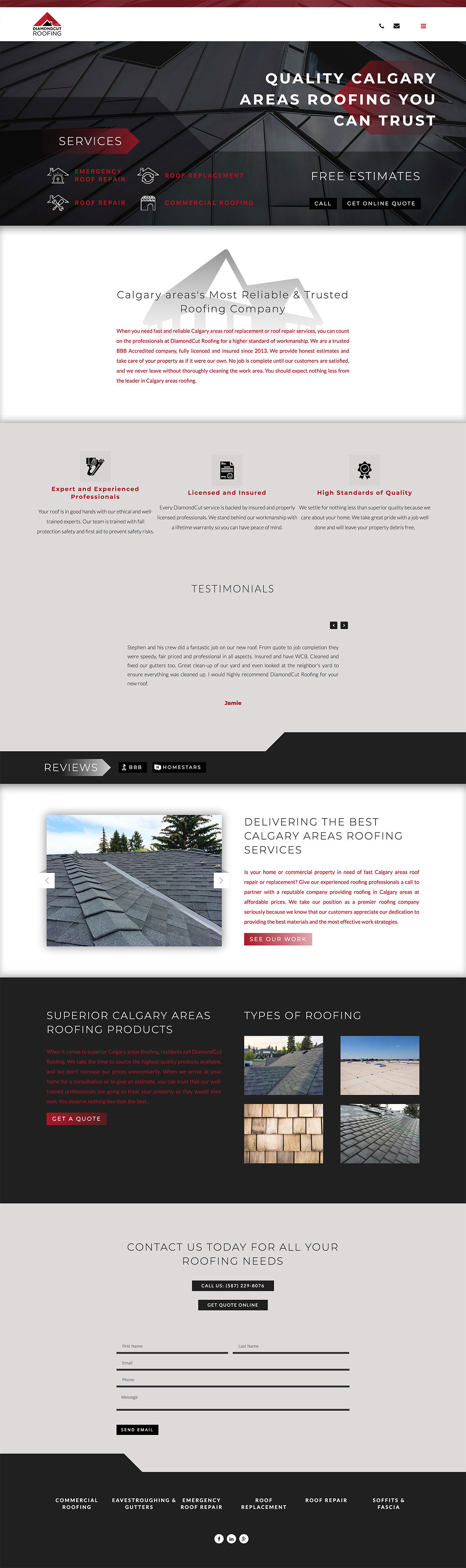 Spacer Web Agency Portfolio Item Diamond Cut Roofing Full