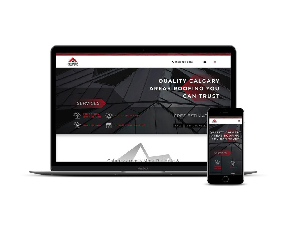 Spacer Web Agency Portfolio Item Diamond Cut Roofing Multi