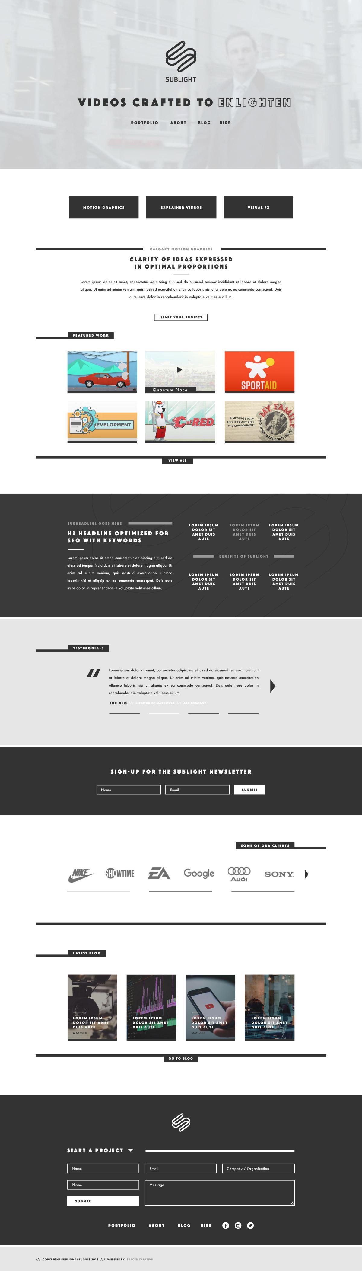 Spacer Web Agency Portfolio Item Sublight Full
