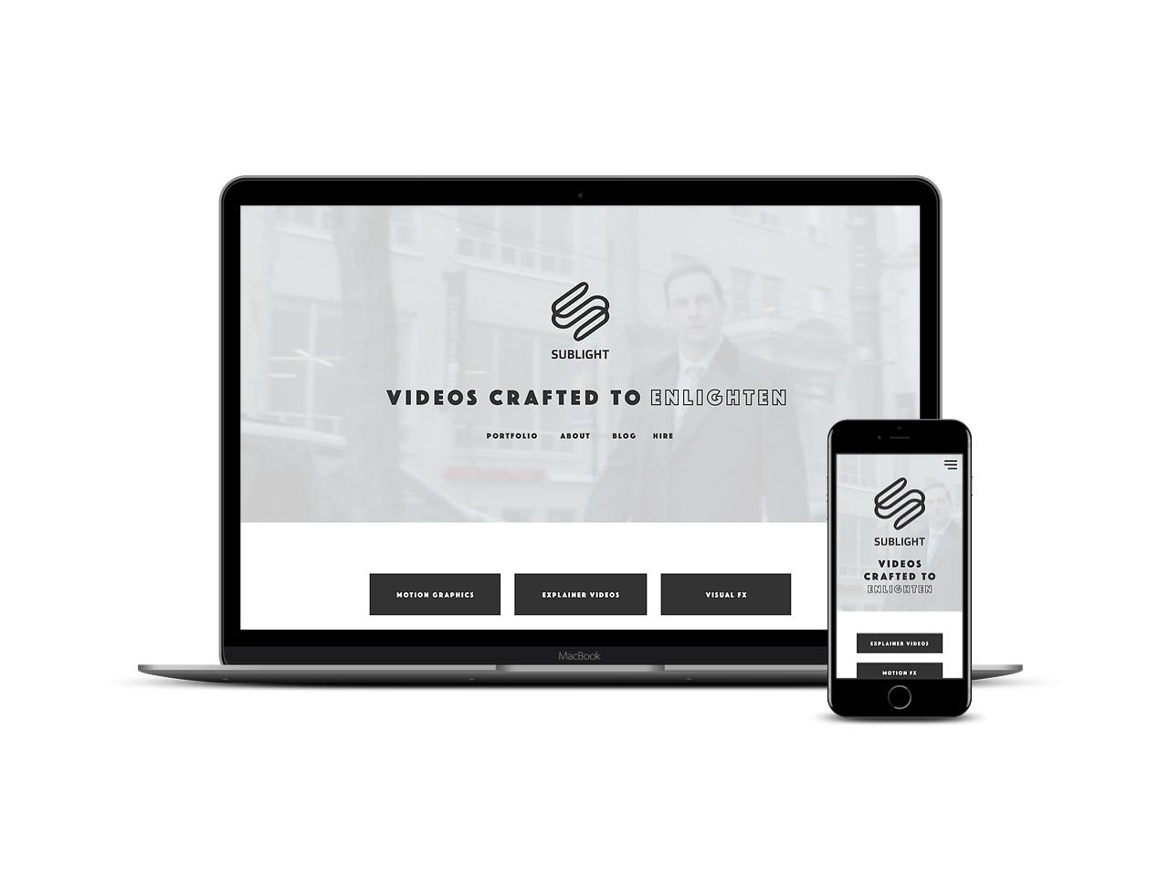 Spacer Web Agency Portfolio Item Sublight Multi