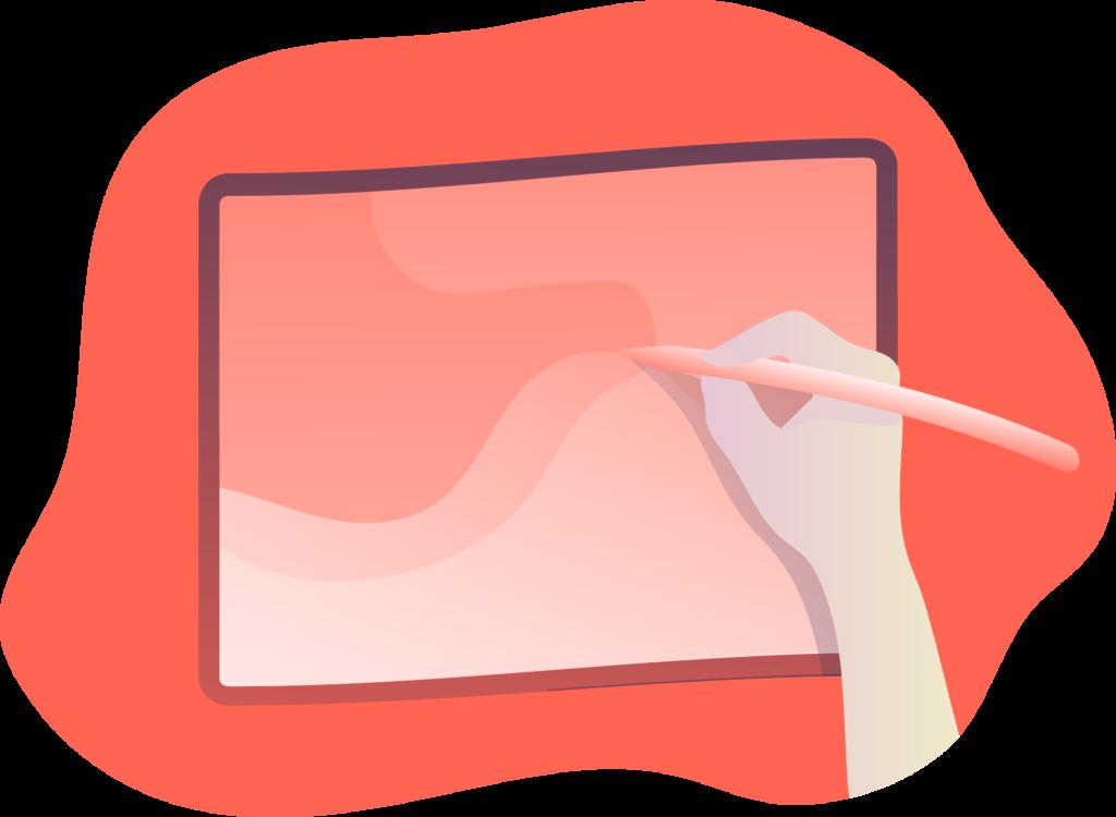 Calgary Logo Design - Vector Illustration on Drawing Tablet