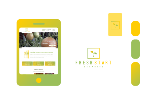 Freelance Graphic Design - Fresh Start Organics Branding Feature