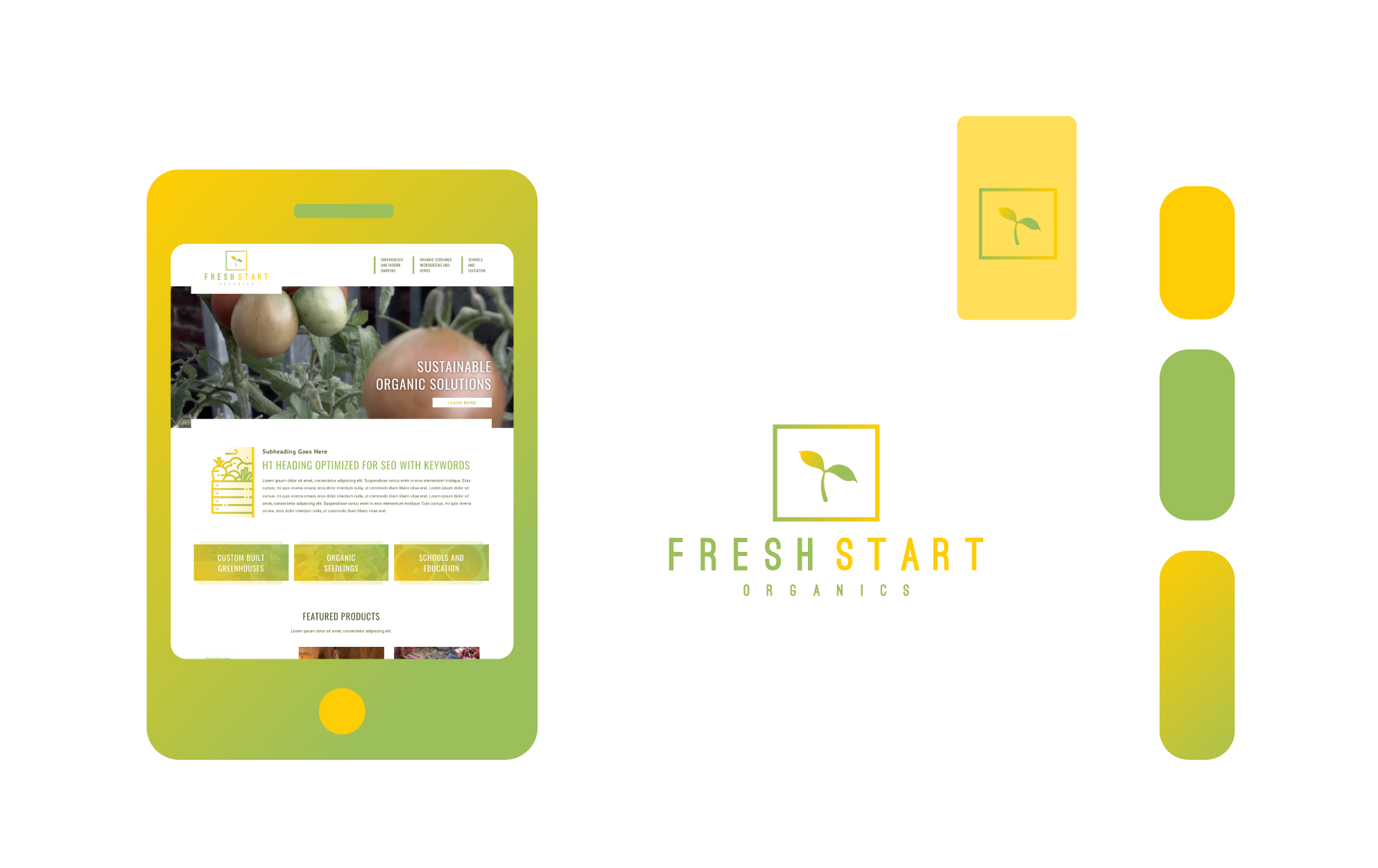 Freelance Graphic Design - Fresh Start Organics Branding Feature