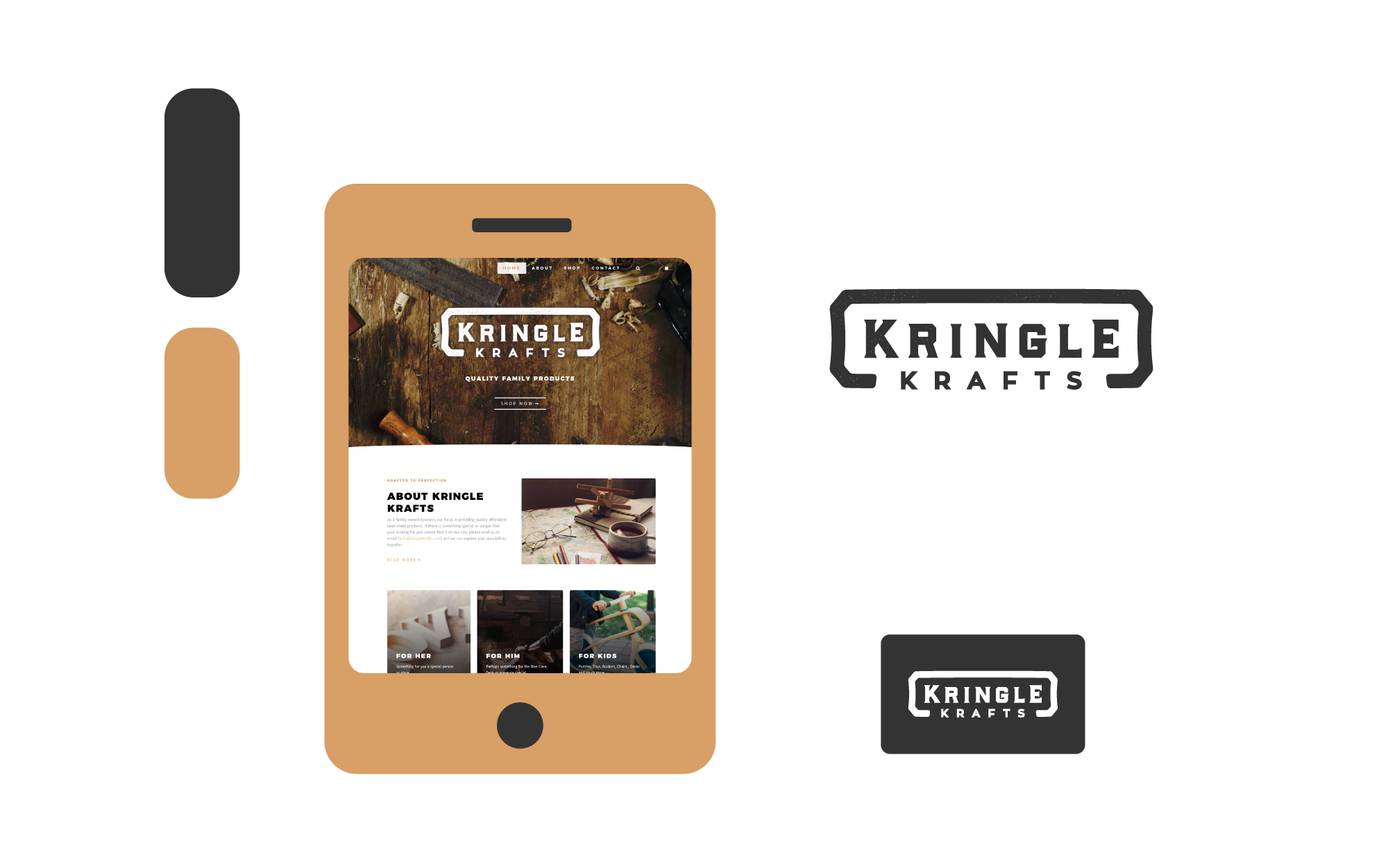 Freelance Graphic Design - Kringle Krafts Branding Feature